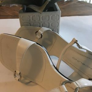 Bandolino white sandals.  New without tags